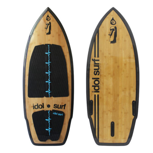 image of carbon / bamboo wake surfboard