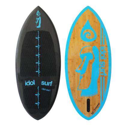 image of carbon bamboo skim board