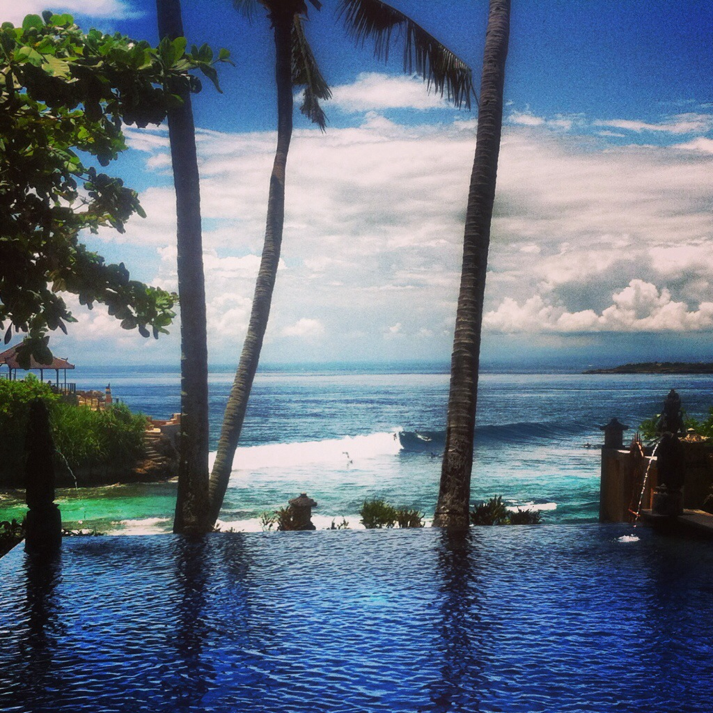 The view from Secret Point hotel's pool