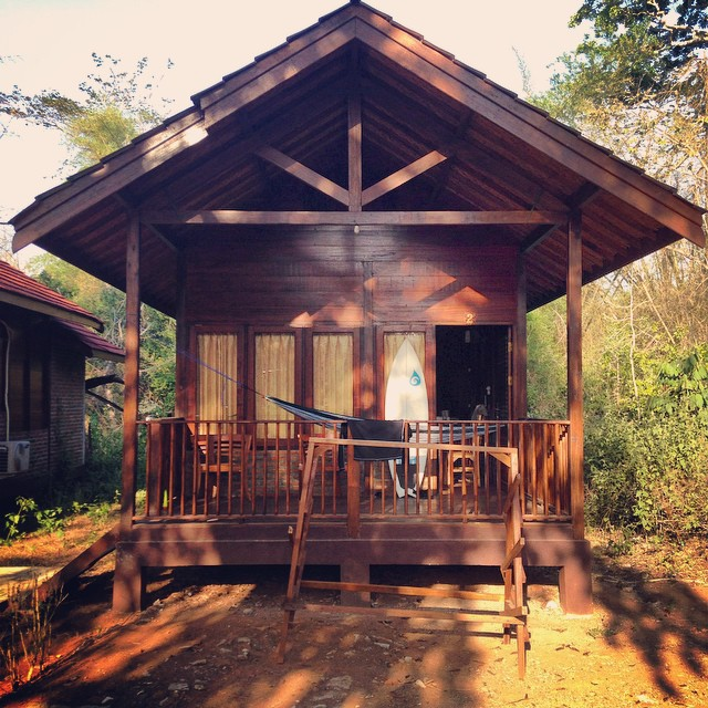 Check out www.idolsurf.com/blog to hear what's going on inside of the head of the guy living in this cabana in the Indonesian jungle.