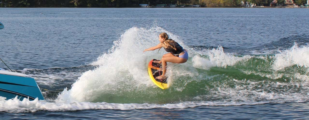 team wakesurfer Frankie Jost